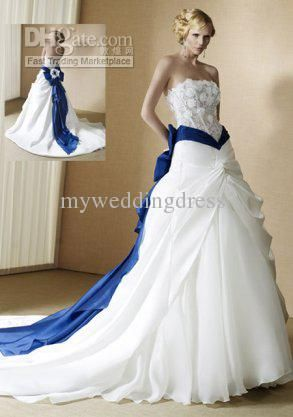 Pin By Christie Tyus On Wedding Blue Wedding Gowns Colored Wedding Dresses White Bridal Dresses