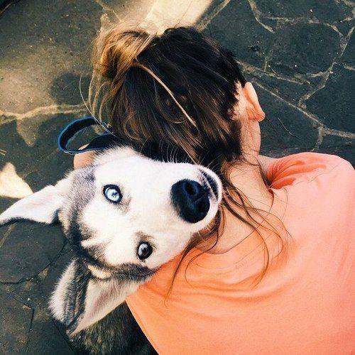 girl and her dog hugging | Dog lovers