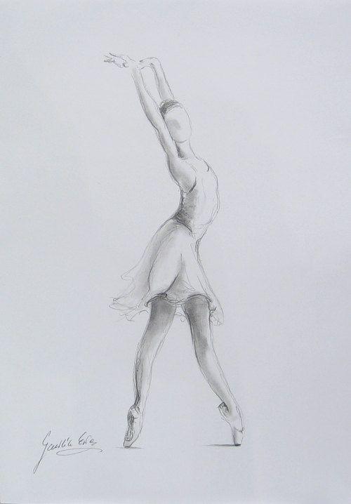 Рисунки карандашом балерина со спины