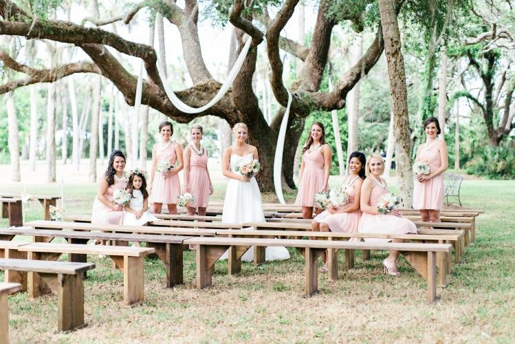 jacksonville wedding planning, ribault club, bridal party, brooke images, staged wedding party