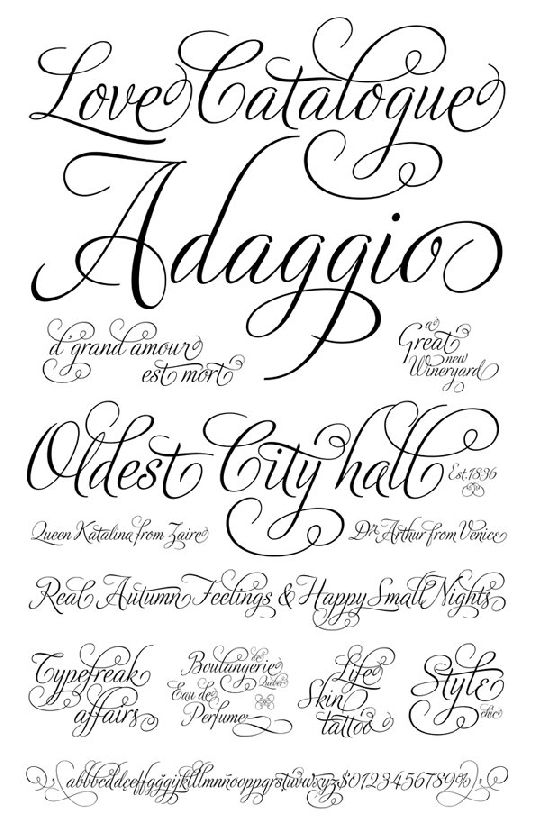 Wedding Invitation Program Fonts