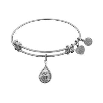 "Non-Antique White Stipple Finish Brass ""Water"" Angelica Bangle  #Angelica #Bracelets  www.diamondshoppejewelers.com"