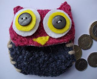 DivineChoice Creations: Knitted Owl Coin Purse