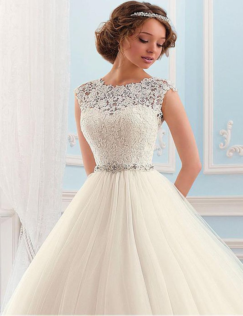 Lace Tulle Princess Tube Beading Wedding Gown My Wedding Ideas Wedding Dresses Lace Ballgown Ball Gown Wedding Dress Gown Wedding Dress