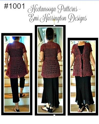 d4c89c15a8d3 Crochet PATTERN- Long rose vest- teens to women