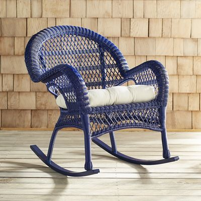It S Always Comfortable In Santa Barbara Our Rocker Is Hand Woven
