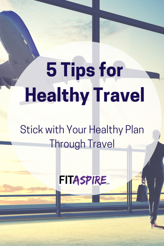 On the road a lot? That's no reason to put your healthy goals aside! Follow these tips to stay on track and stick with those workout & nutrition goals when you travel! (via @fitaspire)