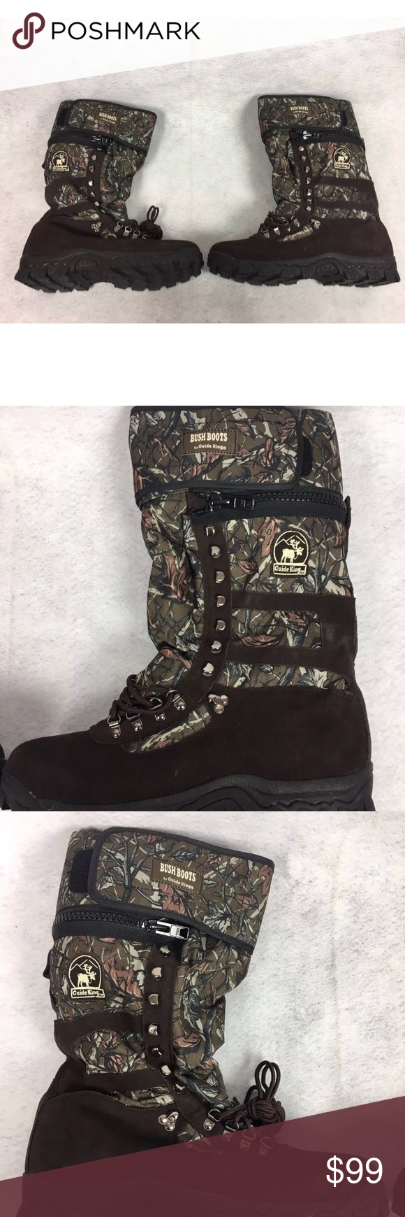Brand new bush boots by guide king camo hunting hip wader boots.