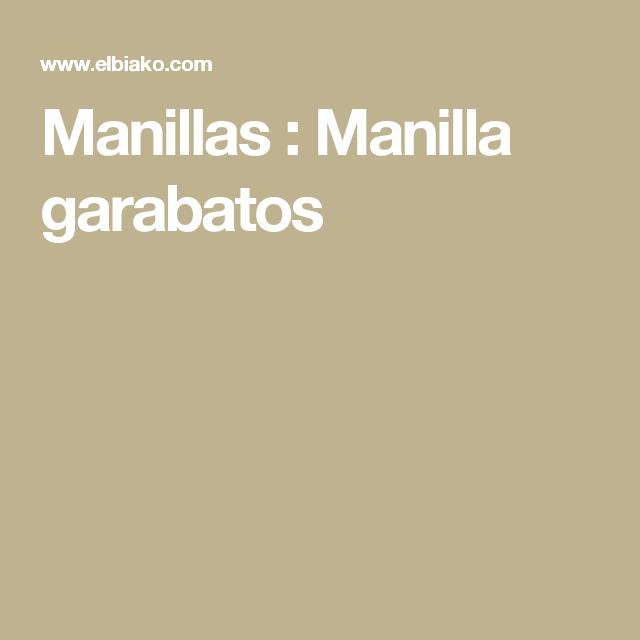 Manillas : Manilla garabatos