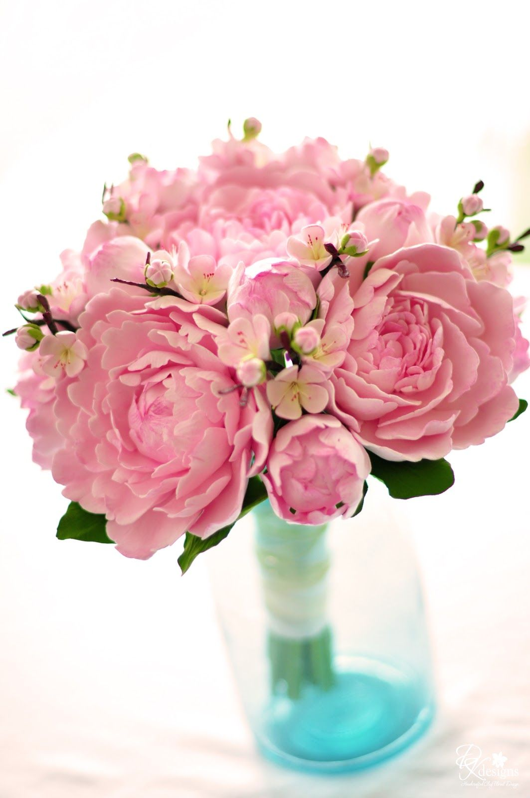DK Designs: Pink Peony and Cherry Blossom Bouquet   Flowers ...