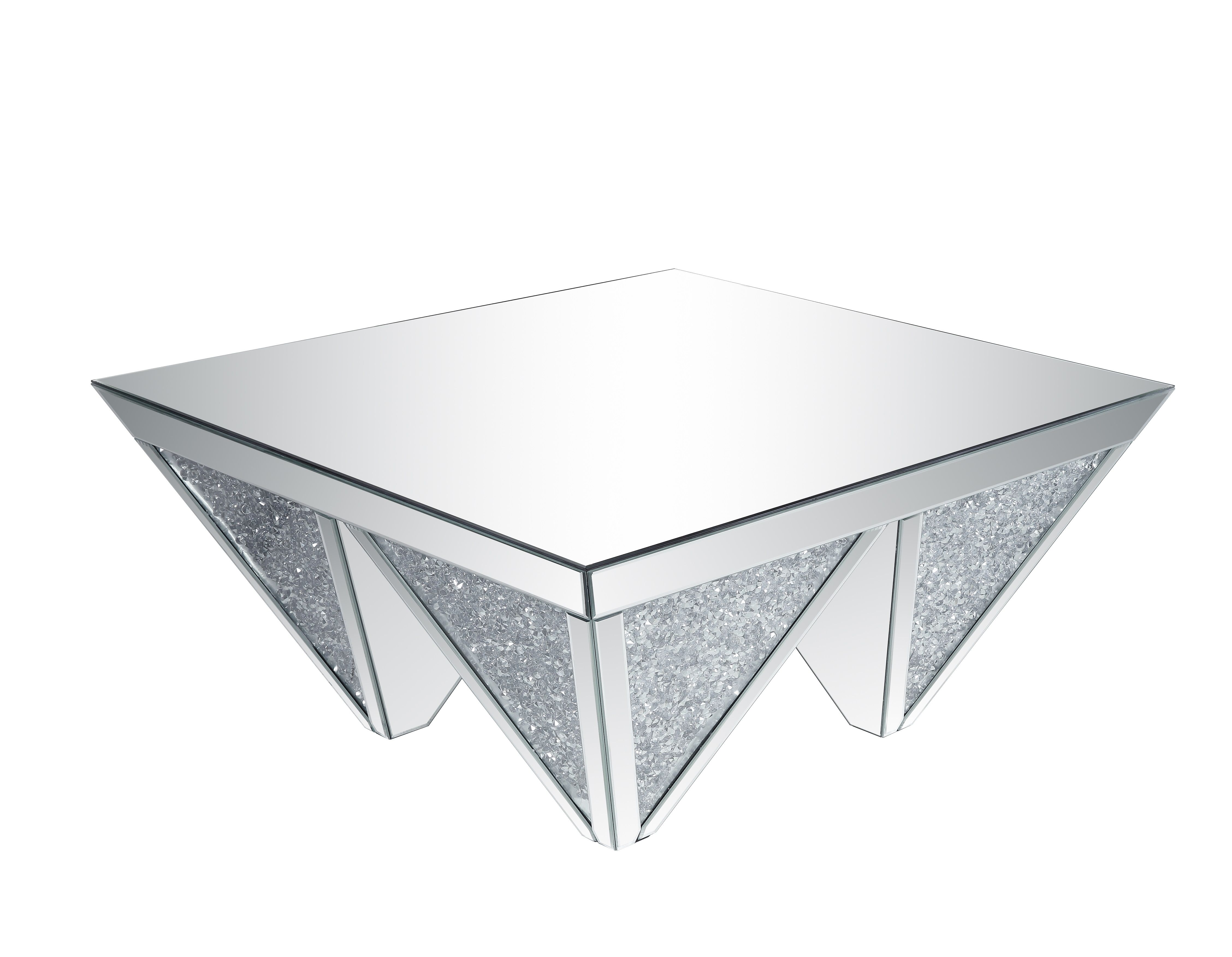 Saltoro Sherpi Sparkling Coffee Table With Faux Diamonds Inlay Silver And Clear Coffee Table Buy Coffee Table Faux Diamonds [ 3504 x 4512 Pixel ]