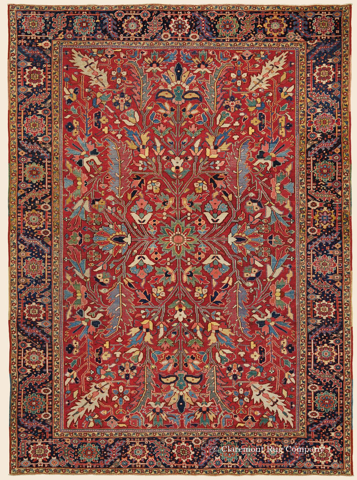 Serapi Heriz 8 9 X 12 0 Circa 1900 Northwest Persian Antique Rug Claremont Rug Company Antique Persian Carpet Rugs On Carpet Carpet Handmade