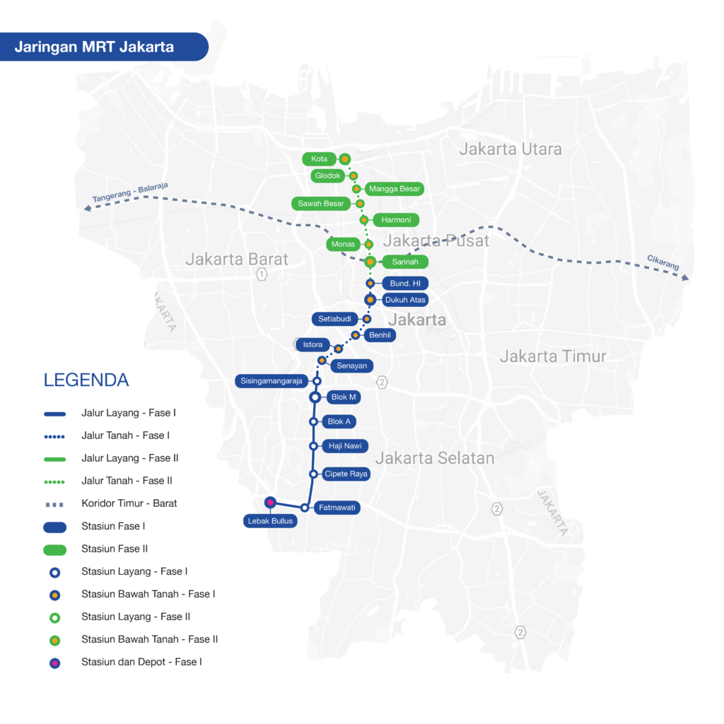 Peta Jalur Mrt Mrt Jakarta Travel Info Map Jakarta