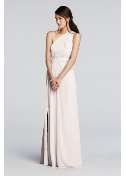 98950e56821 Long One Shoulder Chiffon Dress F18055 This in oasis or whatever color you  had in mind!