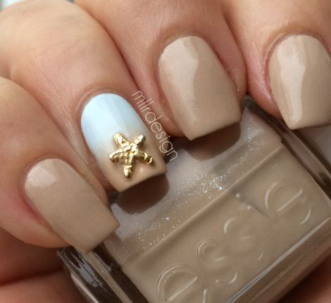 Summer Beach Nails Essie Nail Color In Tails And Coconuts