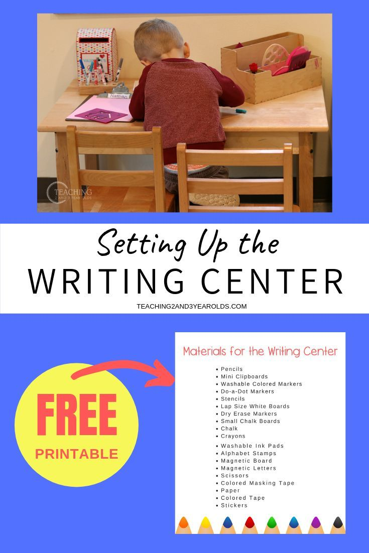 How to Set Up the Preschool Writing Center The preschool writing center is an important area of the