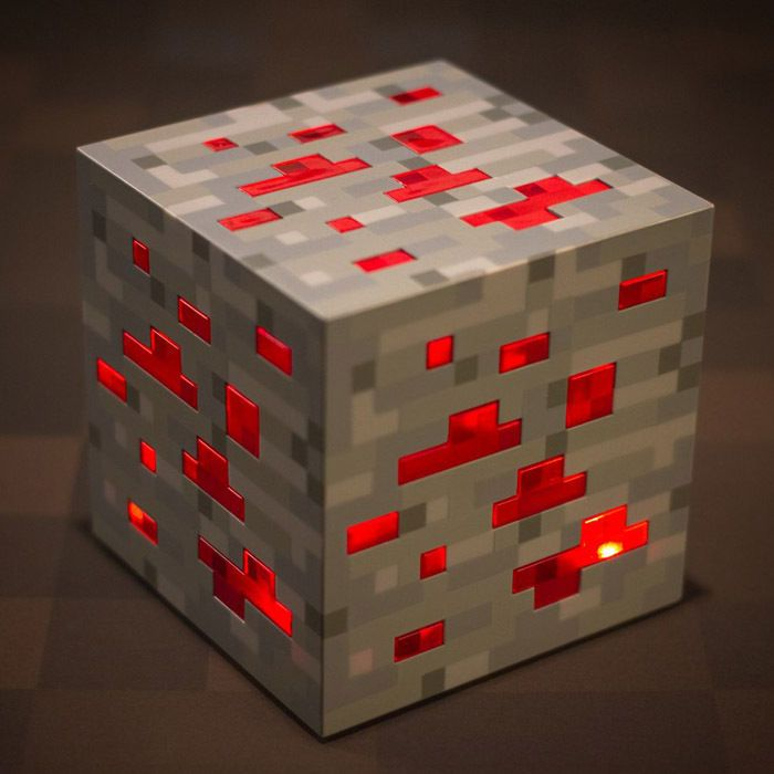 Minecraft Redstone Light Up Ore Red Stone Led Lamp Night Light Minecraft Light Unusual Lighting Led Night Light