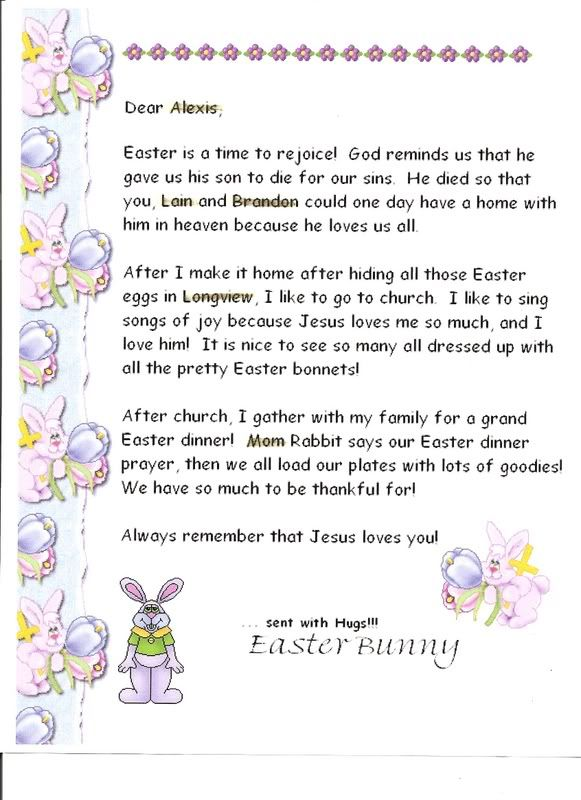 Cute letter from the easter bunny for christian families to use to cute letter from the easter bunny for christian families to use to teach children about the meaning of easter negle Gallery