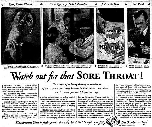 Watch out for that sore throat! It's a sign of a badly deranged condition.
