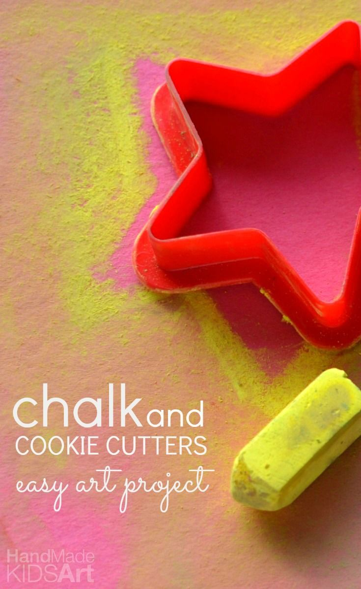 Chalk And Cookie Cutters An Easy Art Project For Kids Hand