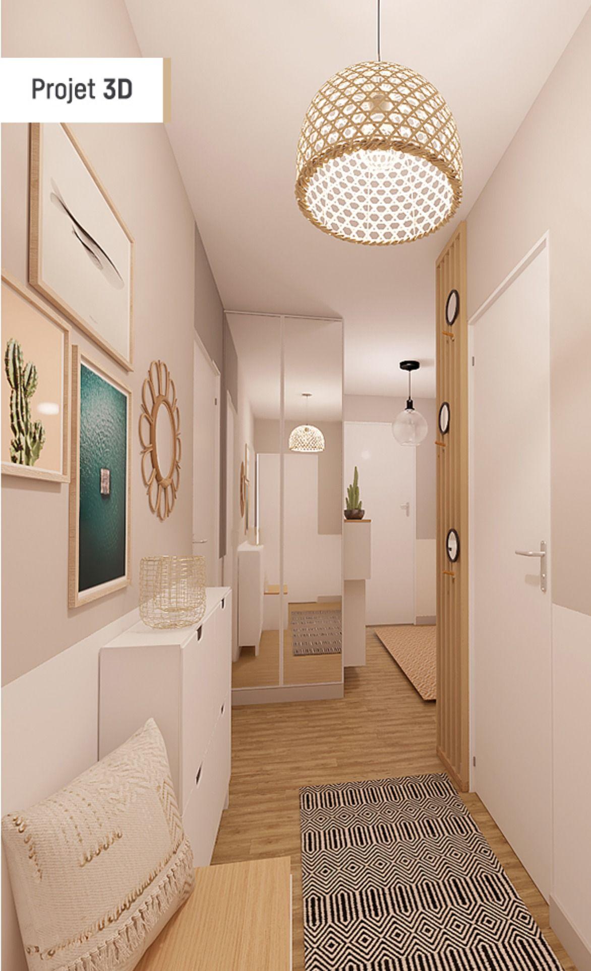 Avant Apres Entree Style Nordique Idee Deco Entree Maison Deco Entree Maison Decoration Interieur Maison