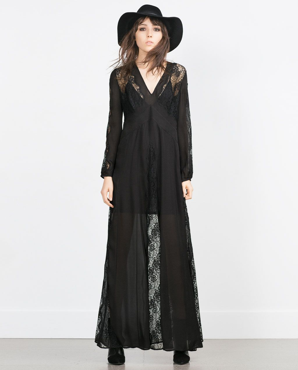 Long Silk Studio Dress With Lace View All Dresses Woman Lace Dress Dress Blog Dresses