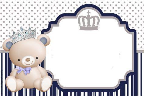 Kit Aniversário Ursinho Príncipe Azul Para Imprimir Convites
