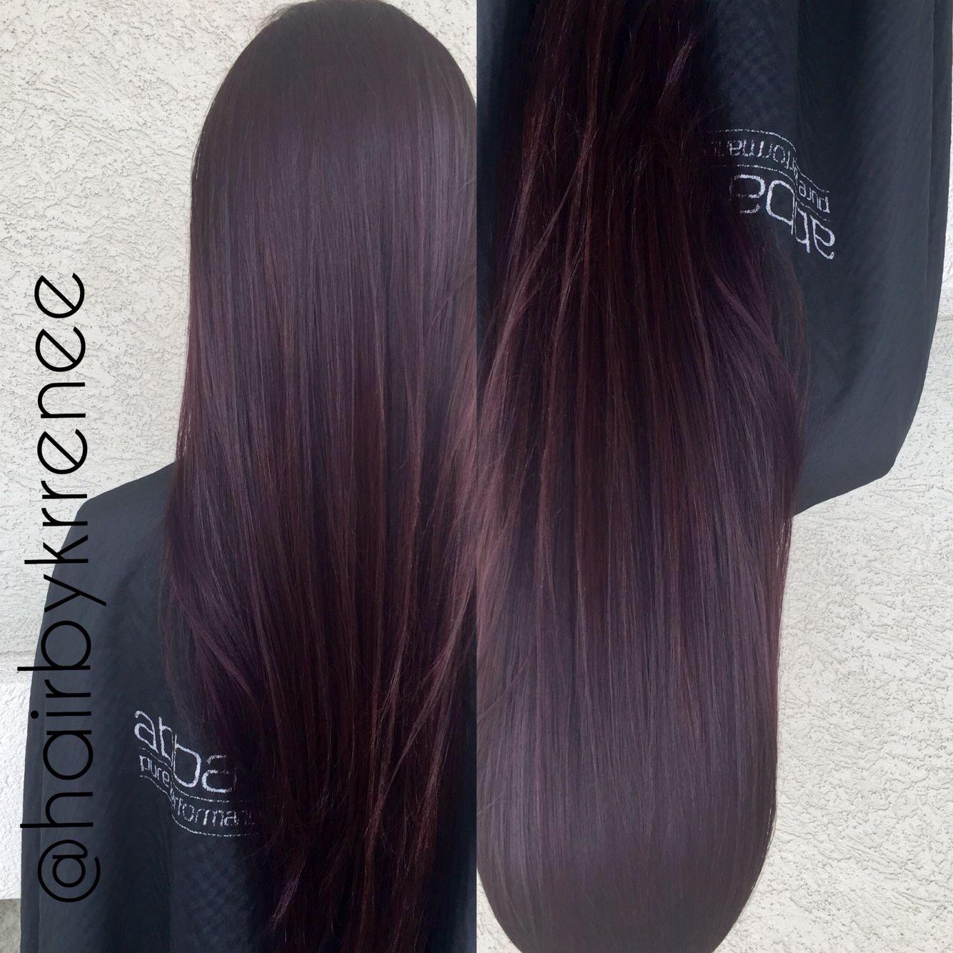Deep plum purple tint hair …   Pinteres…