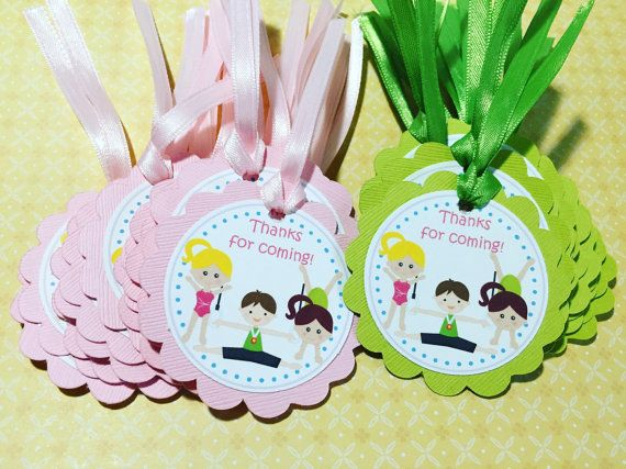 Gymnastics party gift tags gymnastics party party gifts and gymnastics party gift tags by kbettega on etsy more negle Images