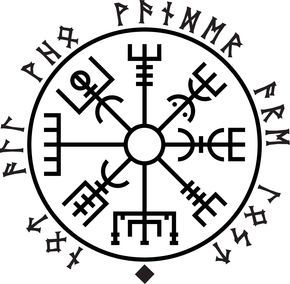Vegvisir Not All Who Wander Are Lost Viking Symbols Viking Compass Tattoo Norse Tattoo