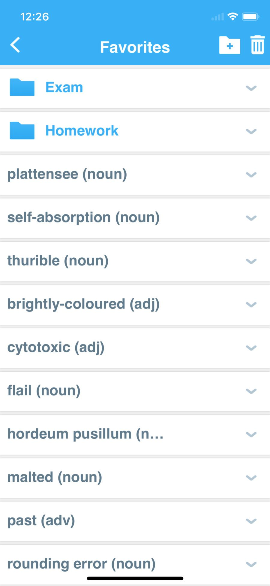 Advanced Dictionary App, Learning, Iphone