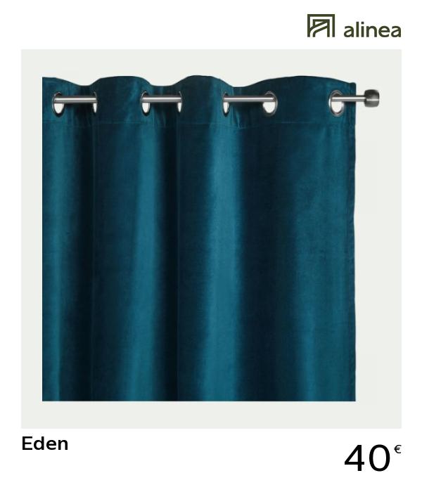 rideaux oeillets rideaux velours bleu