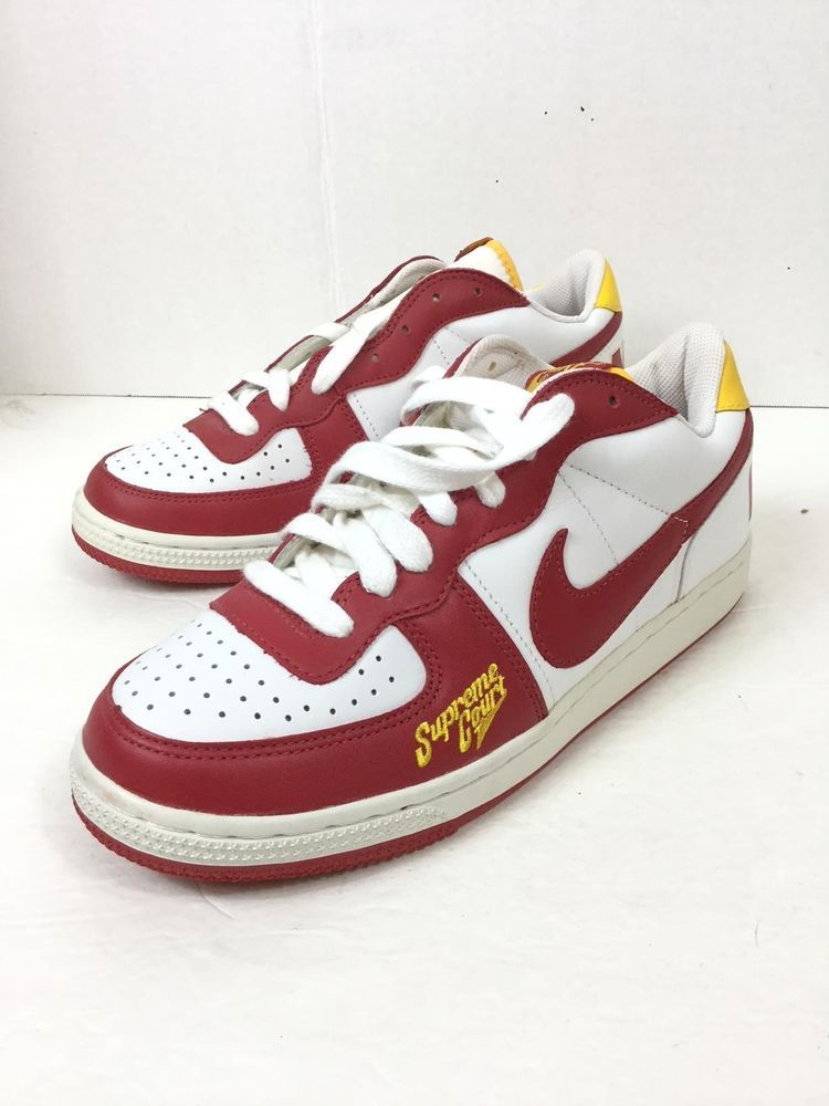 Parte microscopio Río Paraná  Nike Mens Terminator Supreme Court Red White Yellow CLEAN 309436 161 Size  8.5 #fashion #clothing #shoes #accessories #mens… | Sneakers men, Athletic  shoes, Sneakers