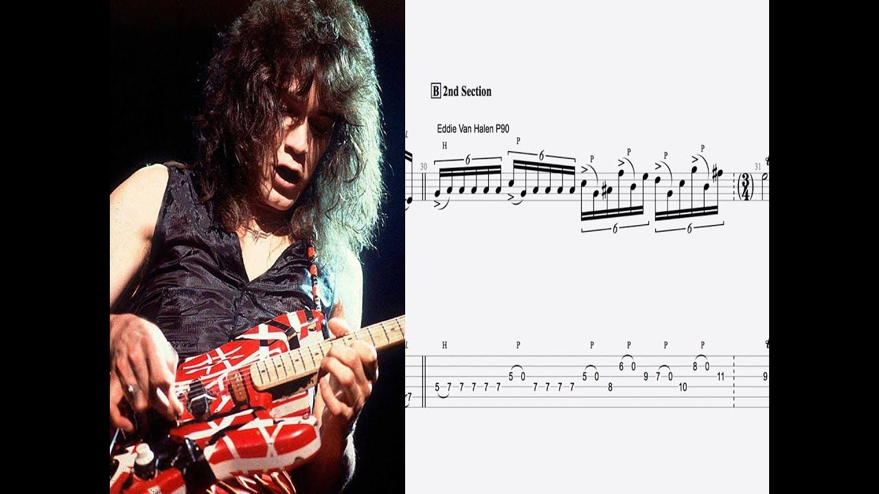 Eruption Guitar Solo Transcription Eddie Van Halen Sheet Music Tab Van Halen Music Tabs Guitar Solo