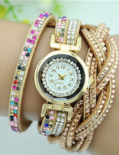 Out TOP favorite this summer - sparkling bracelets wrist watch for women/ girls. Find it in blue, blushing pink, gold, rainbow, white colors at $4.99. Just click on  the picture to see the details.