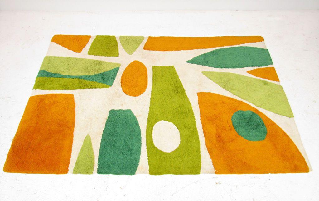 Mid century modern abstract area rug more mid - Mid century modern rug ideas ...
