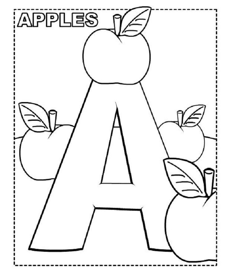 Alphabet Coloring Pages For Preschoolers Free Alphabet Coloring