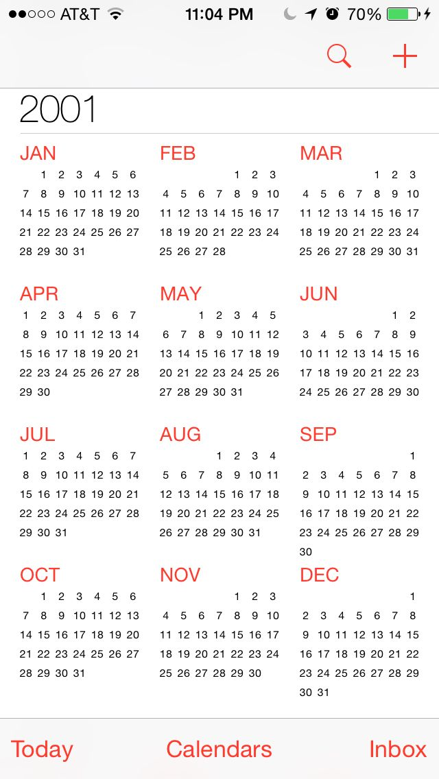 2001 Calendar Calendar Template Calendar Templates