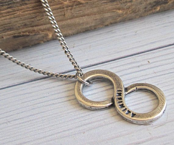 Men S Necklace Men Infinity Necklace Men Silver Etsy Mens