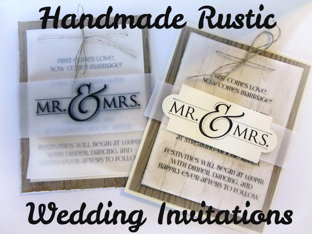 Stampin Up Wedding Invitations: Handmade Wedding Invites, Stampin Up!, Hardwood, Vellum