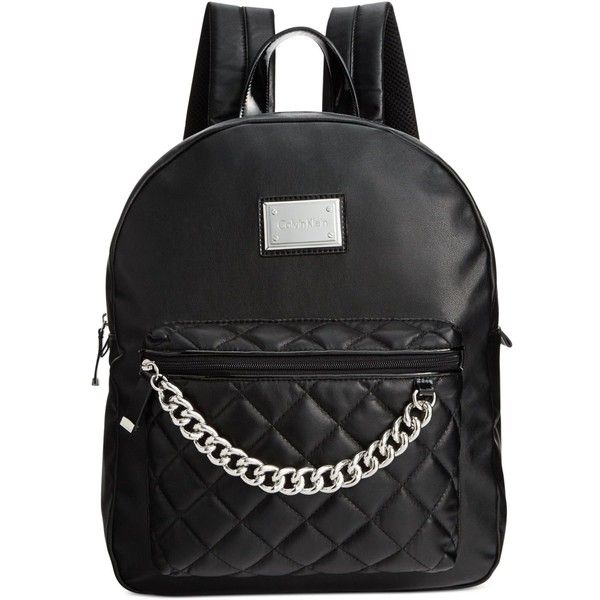 Capsule Small Quilted Backpack with Chain klzAs