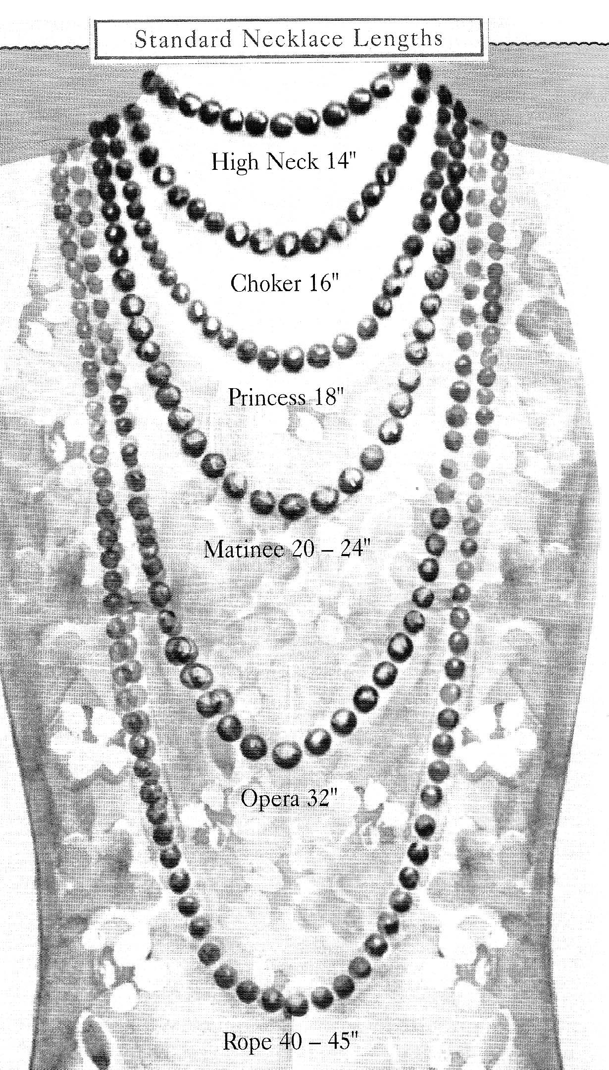 Necklace names lengths. Necklace lengths, Jewelry