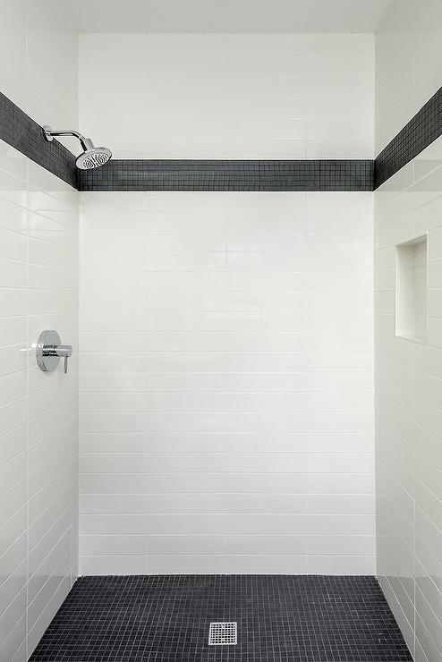Black Border Shower Tiles