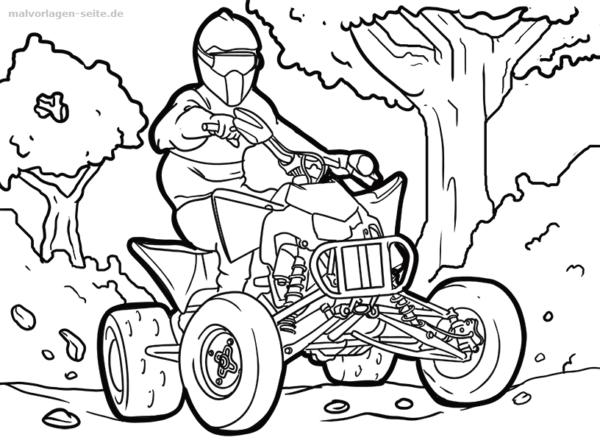 Malvorlage Quad Fahrzeuge Malvorlagen Ausmalbilder Wenn Du Mal Buch