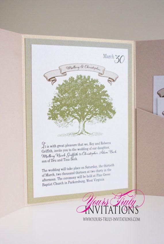Sample - Pocket folder Olive Green Story book Fairy tale Oak Tree ...