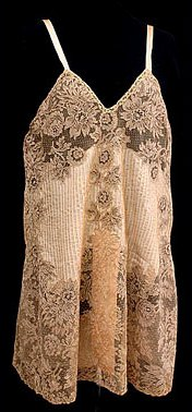 Circa 1925 silk and lace Teddy, made in France PINTUCKS ARE THE BEST AFTER SMOCKING!
