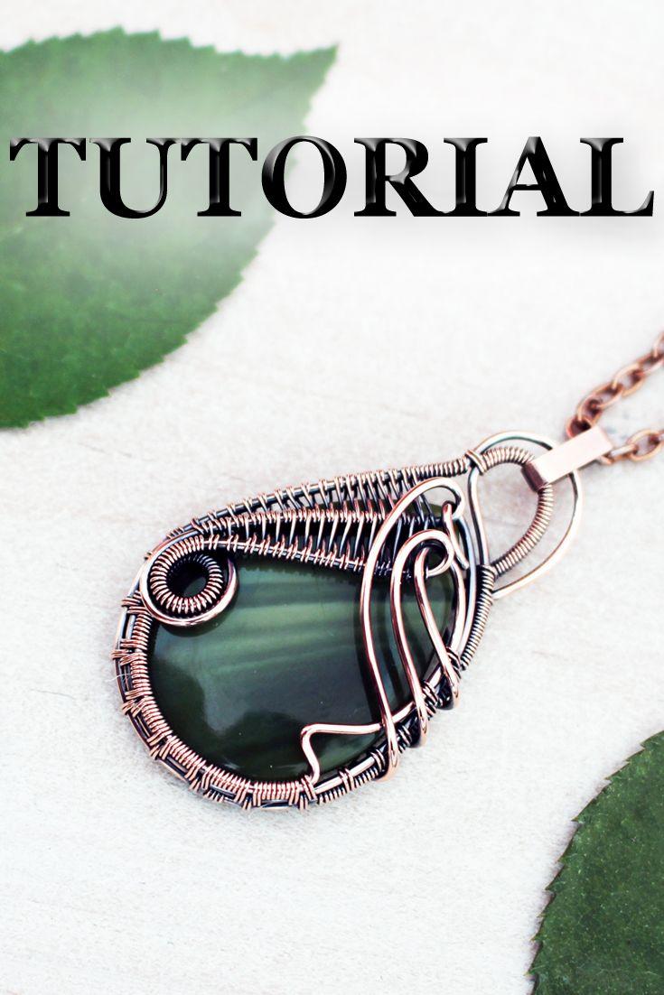 Wire Wrapping Tutorial Wire Wrap Tutorial Wire Wrapped Pendant Tutorial Wire Wrap Jewelry Tutorial Wire Weaving Tutorial Jewelry Making