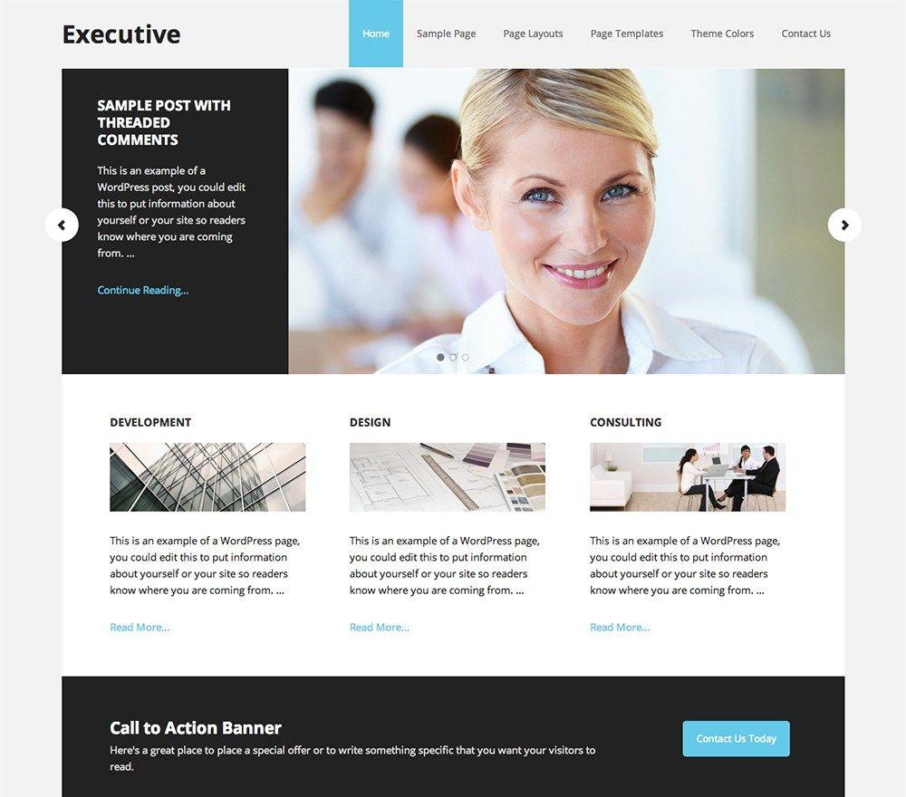 Executive Pro Theme - http://themesparadise.com/executive-pro-theme/