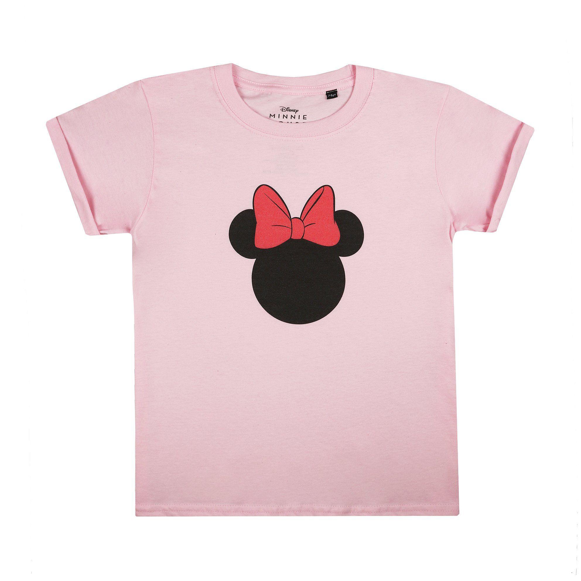 Disney Kids - Minnie Silhouette - T-Shirt - Light Pink