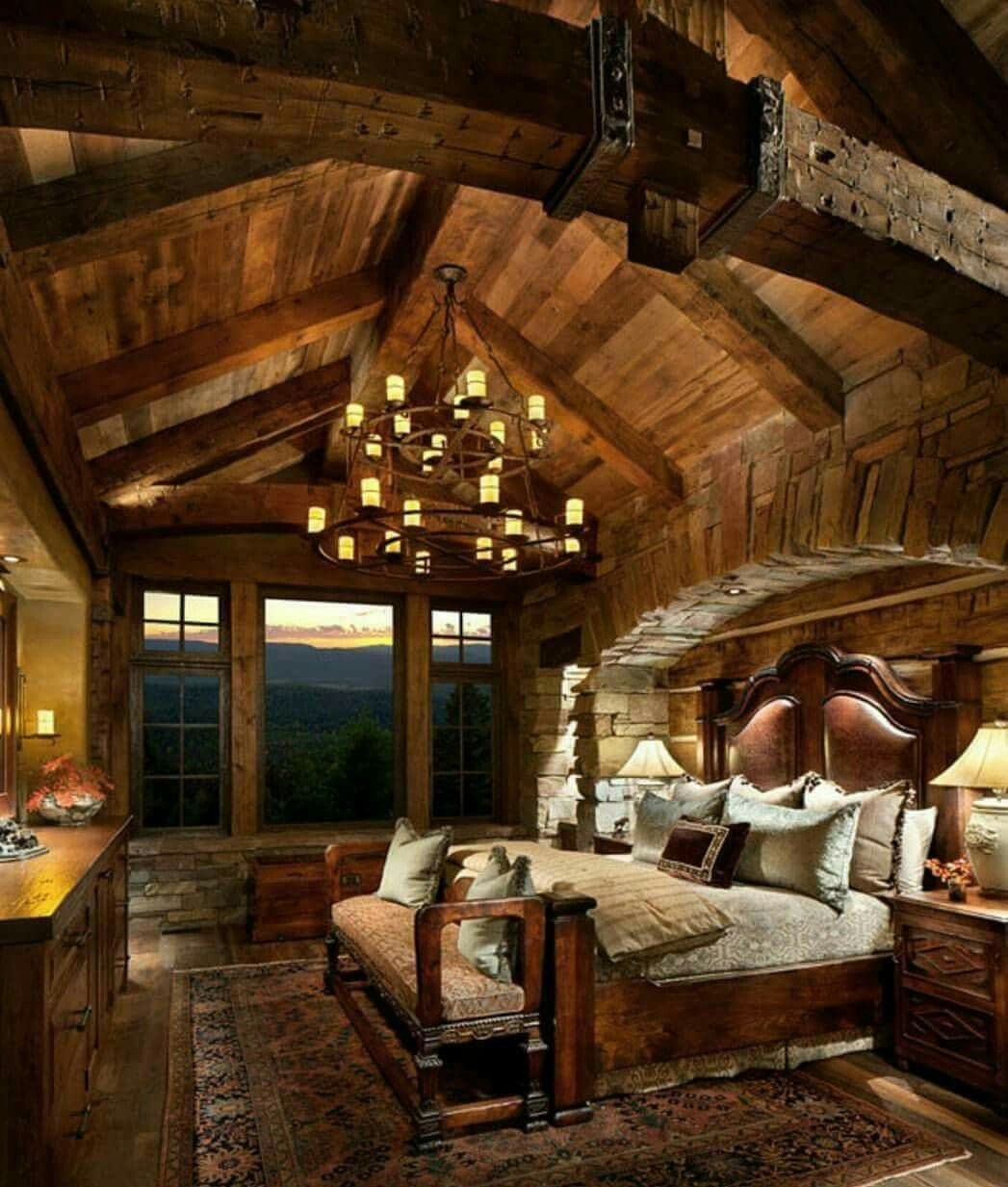19 Log Cabin Home Décor Ideas: Log Cabin Bedroom Ideas